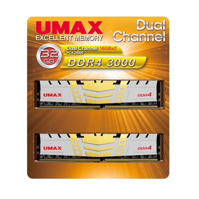 UMAX UM-DDR4D-3000-32GBHS DDR4-3000 16GBx2枚 デスクトップ用メモリ 288pin