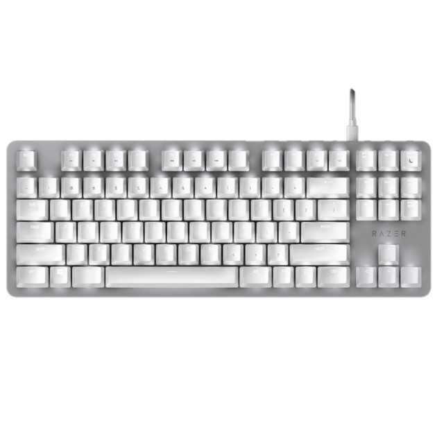 【Gaming Goods】Razer BlackWidow Lite Mercury White RZ03-02640700-R3M1 コンパクト 静音 メカニカル キーボード