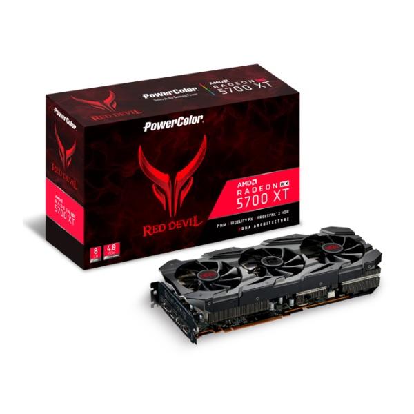 PowerColor AXRX 5700XT 8GBD6-3DHE/OC [RX5700 XT/8GB GDDR6] グラフィックカード Red Devilシリーズ