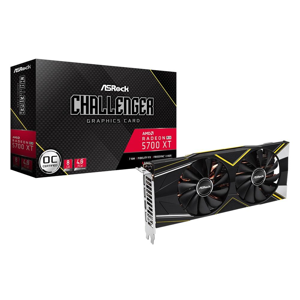 ASRock Radeon RX 5700 XT Challenger D 8G OC [RX5700 XT/GDDR6 8GB] Radeon RX 5700 XTグラフィックカード