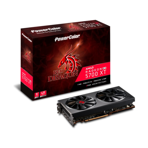 PowerColor AXRX 5700XT 8GBD6-3DHR/OC AMD Radeon RX 5700 XT搭載グラフィックカード 大口径100mm デュアルファン採用
