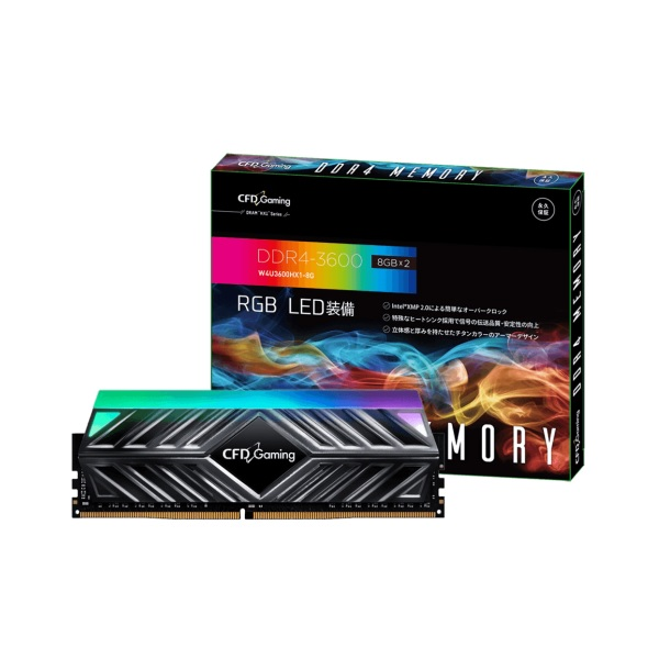 CFD W4U3600HX1-8G DDR4-3600 デスクトップ用メモリ 8GB 2枚 DDR4-3600 CFD Gaming HX1シリーズ