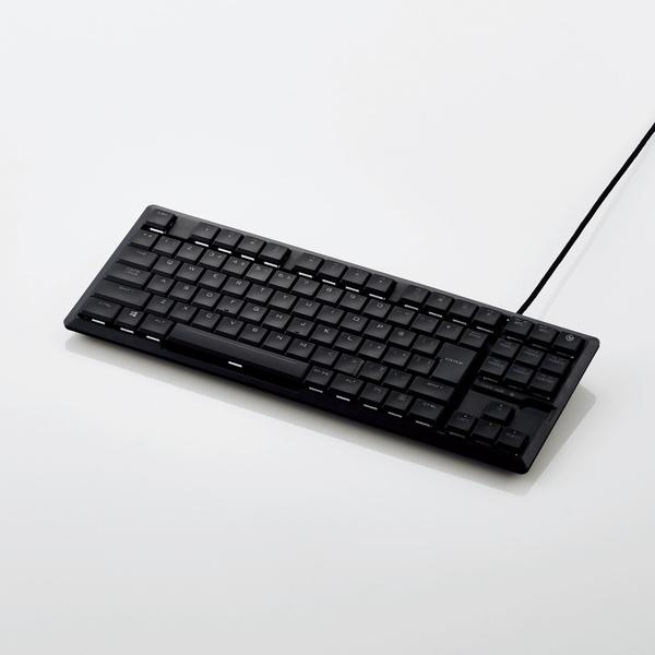 ELECOM TK-ARMA30BK ガンシューティング系ゲーム(FPS)プレイに最適なコンパクトゲーミングキーボード