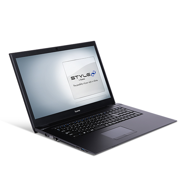 新製品 iiyama STYLE∞ ノートPC STYLE-17HP044-C-CESM [17.3型HD+/Celeron 3867U/4GBメモリ/256GB SSD/Windows 10 Home]