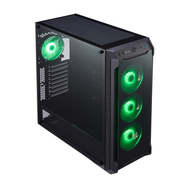 FSP CMT520 ミドルタワー PCケース フロント×3 リア×1 RGB LEDファン搭載