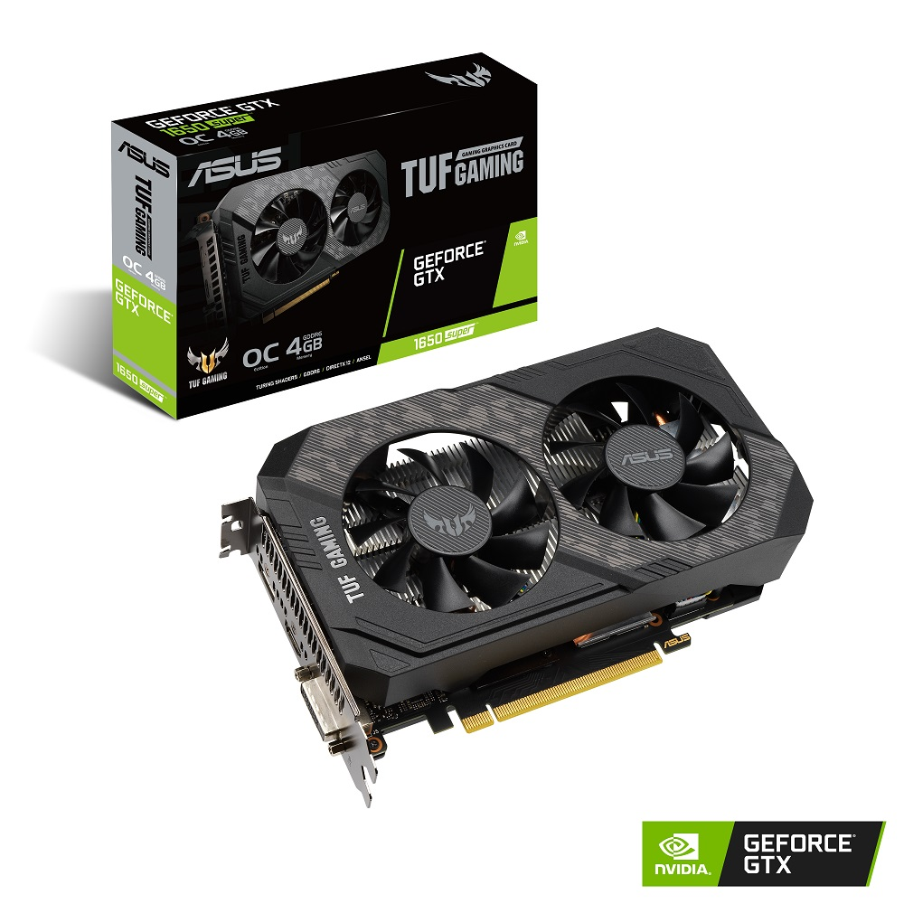 ASUS TUF-GTX1650S-O4G-GAMING Geforce GTX 1650 SUPER搭載グラフィックカード 高耐久TUFシリーズ