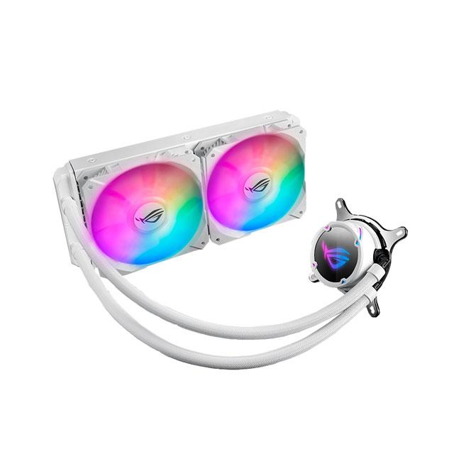 ASUS ROG STRIX LC 240 RGB White Edition 240mmラジエタ ホワイトモデル 水冷CPUクーラー