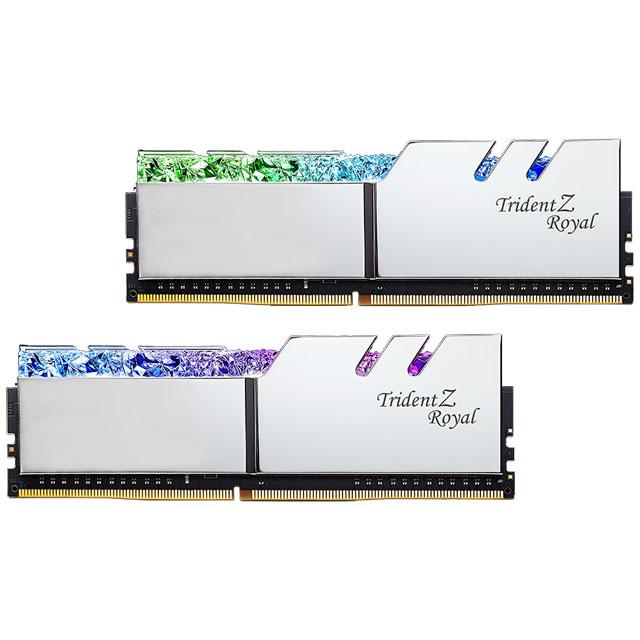 G.SKILL F4-2666C18D-64GTRS デスクトップ用メモリ DDR4-2666 64GB (2x32GB) シルバーカラー Trident Z Royal シリーズ