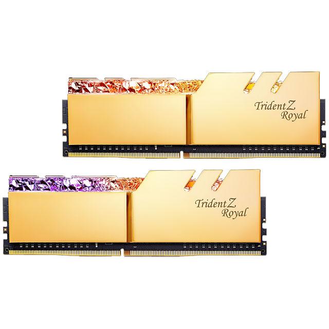 G.SKILL F4-3200C16D-32GTRG デスクトップ用メモリ DDR4-3200 32GB (2x16GB) ゴールドカラー Trident Z Royal シリーズ