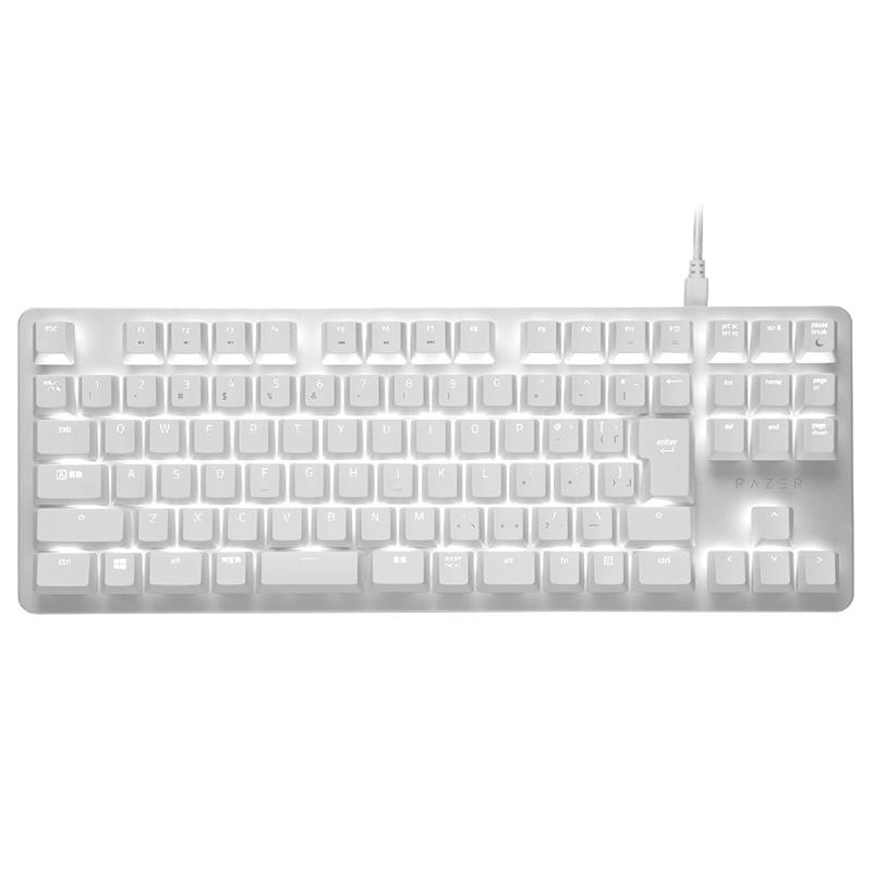 【Gaming Goods】Razer BlackWidow Lite JP Mercury White /RZ03-02640800-R3J1 テンキーレス キーボード 日本語配列