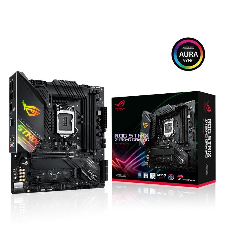 ASUS ROG STRIX Z490-G GAMING Intel 第10世代Coreプロセッサー対応 Z490チップセット搭載 MicroATXマザーボード
