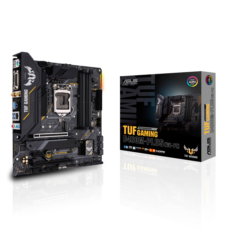 ASUS TUF GAMING B460M-PLUS (WI-FI) Intel 第10世代Coreプロセッサー対応 B460チップセット搭載 MicroATXマザーボード