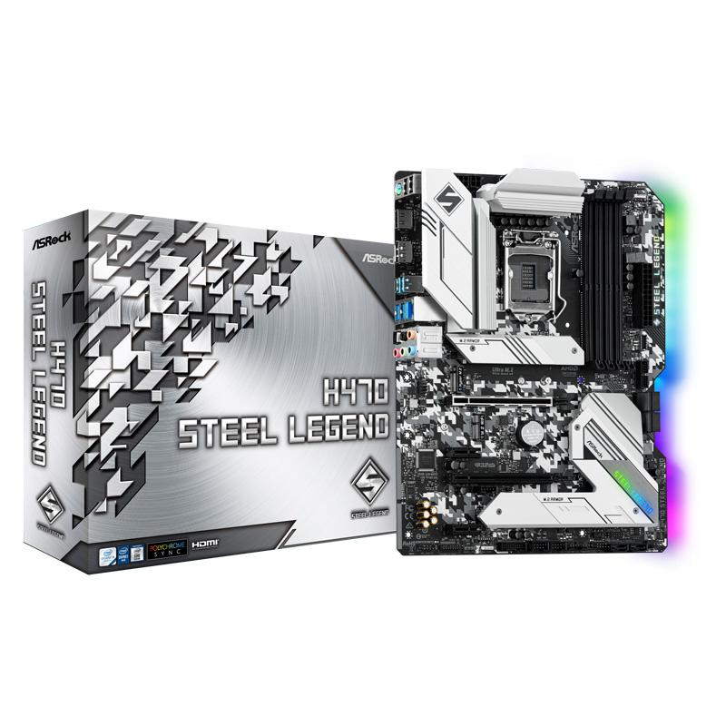ASRock H470 Steel Legend Intel 第10世代Coreプロセッサー対応 H470チップセット搭載 ATXマザーボード