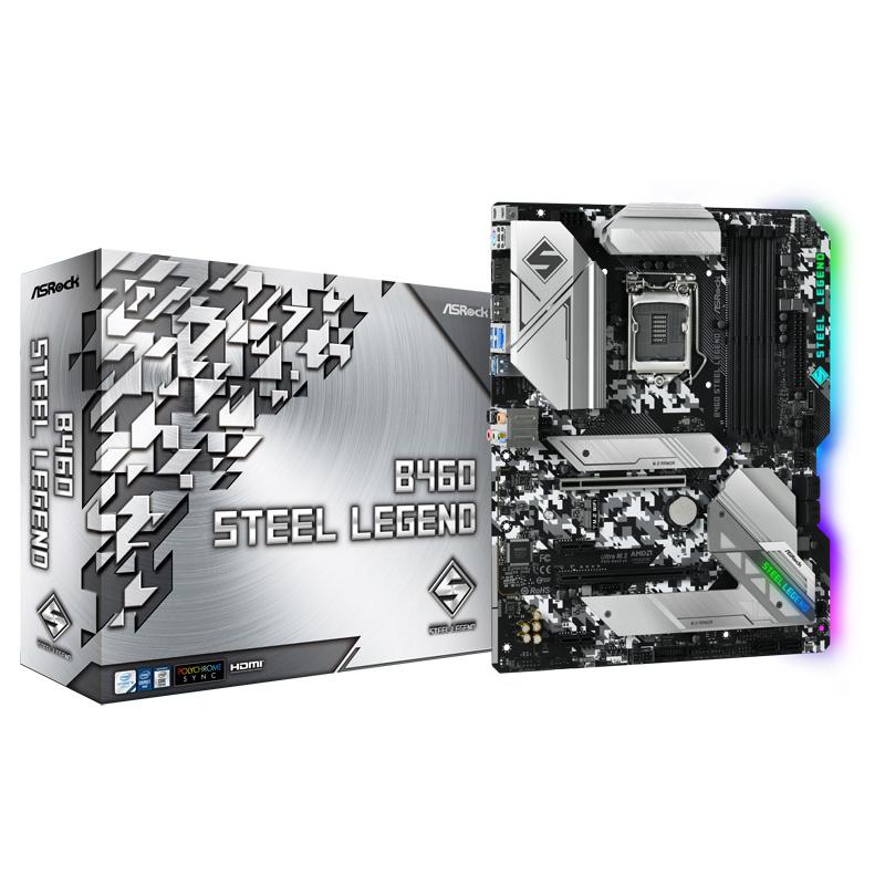 ASRock B460 Steel Legend Intel 第10世代Coreプロセッサー対応 B460チップセット搭載 ATXマザーボード