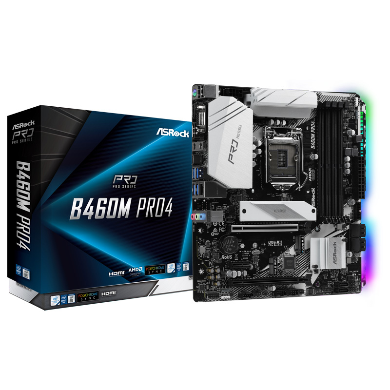ASRock B460M Pro4 Intel 第10世代Coreプロセッサー対応 B460チップセット搭載 MicroATXマザーボード