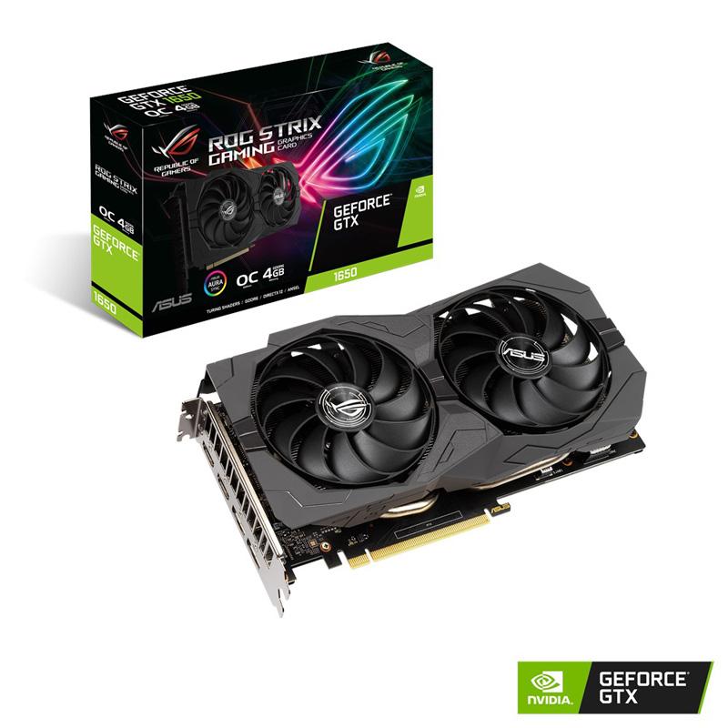 ASUS ROG-STRIX-GTX1650-O4GD6-GAMING デュアルファン仕様 GeForce GTX 1650 搭載グラフィックカード OC版