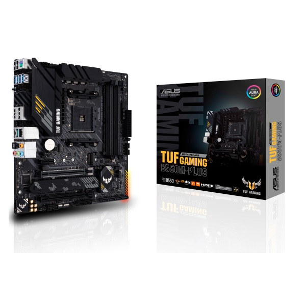 ASUS TUF GAMING B550M-PLUS AMD B550チップセット搭載 MicroATXマザーボード