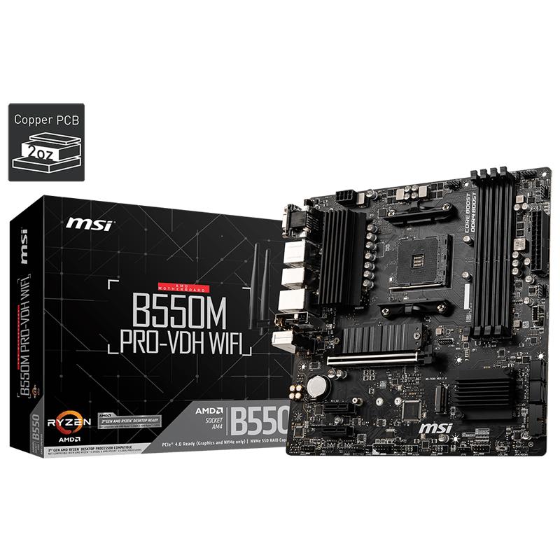 MSI B550M PRO-VDH WIFI AMD B550チップセット搭載 MicroATXマザーボード