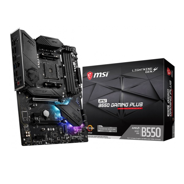 MSI MPG B550 GAMING PLUS AMD B550チップセット搭載 ATXマザーボード