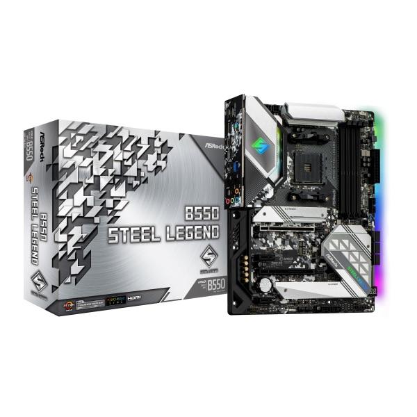 ASRock B550 Steel Legend AMD B550チップセット搭載 ATXマザーボード