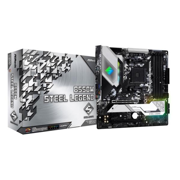 新製品 ASRock B550M Steel Legend AMD B550チップセット搭載 MicroATXマザーボード