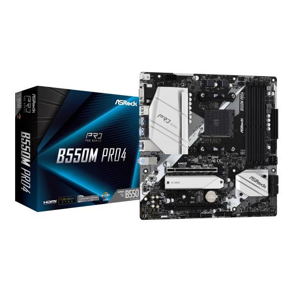 ASRock B550M Pro4 AMD B550チップセット搭載 MicroATXマザーボード