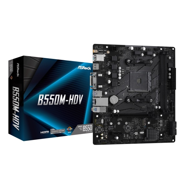 ASRock B550M-HDV AMD B550チップセット搭載 MicroATXマザーボード