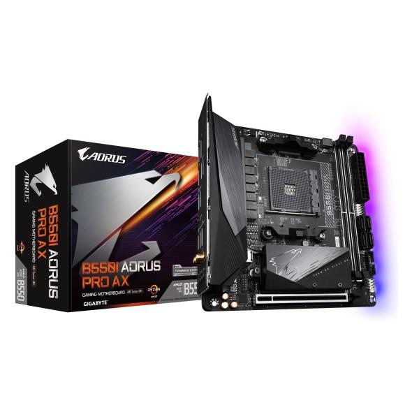 GIGABYTE B550I AORUS PRO AX AMD B550チップセット搭載 Mini- ITXマザーボード