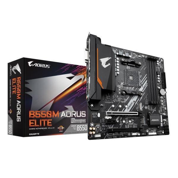 GIGABYTE B550M AORUS ELITE AMD B550チップセット搭載 MicroATXマザーボード