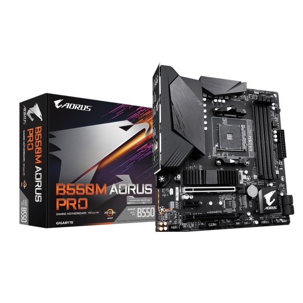 GIGABYTE B550M AORUS PRO AMD B550チップセット搭載 MicroATXマザーボード
