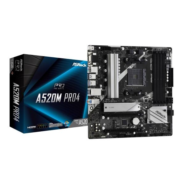 新製品 ASRock A520M Pro4 AMD A520チップセット搭載 microATXマザーボード