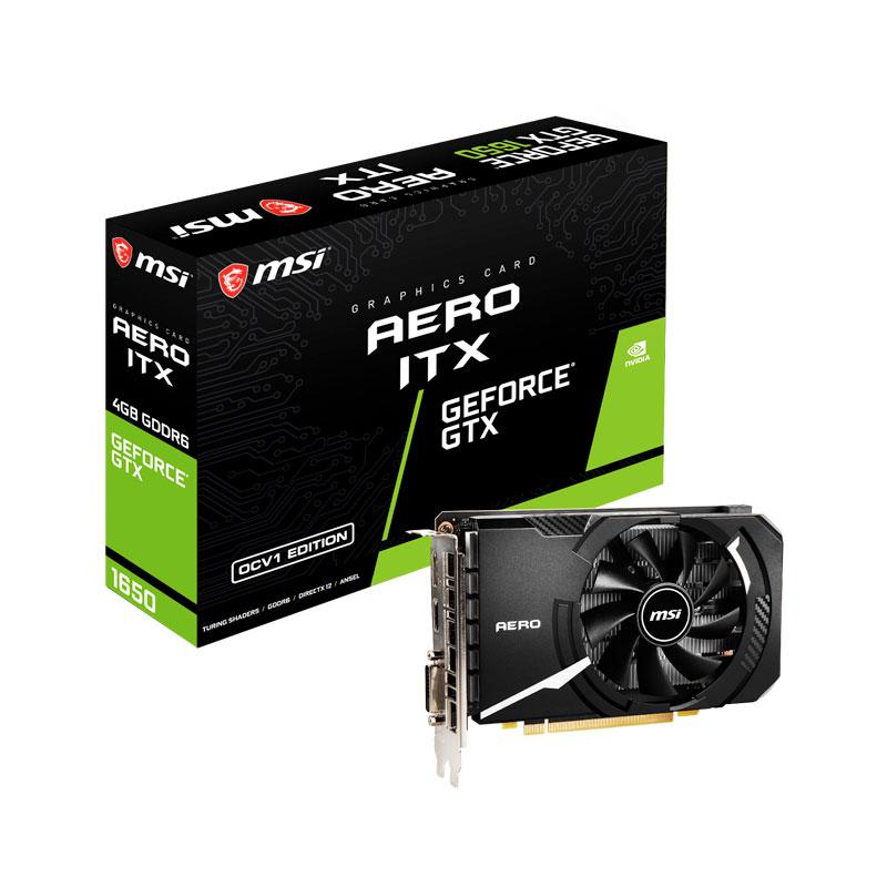 新製品 MSI GeForce GTX 1650 D6 AERO ITX OCV1 DDR6メモリ搭載 GeForce GTX 1650グラフィックスカード