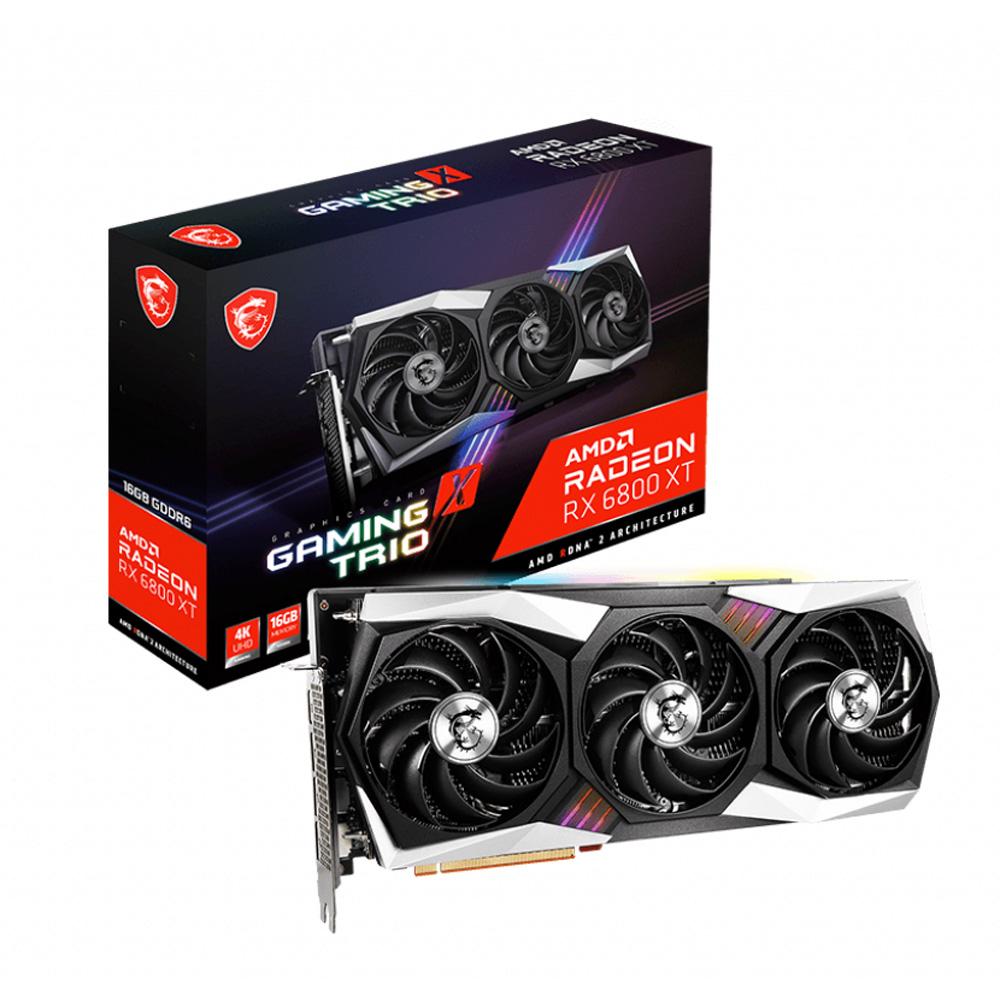 MSI 蔵 Radeon RX 6800 XT GAMING X 搭載グラフィックスカード TRIO 超激安特価 16G AMD FROZR2冷却システム搭載 RADEON TRI