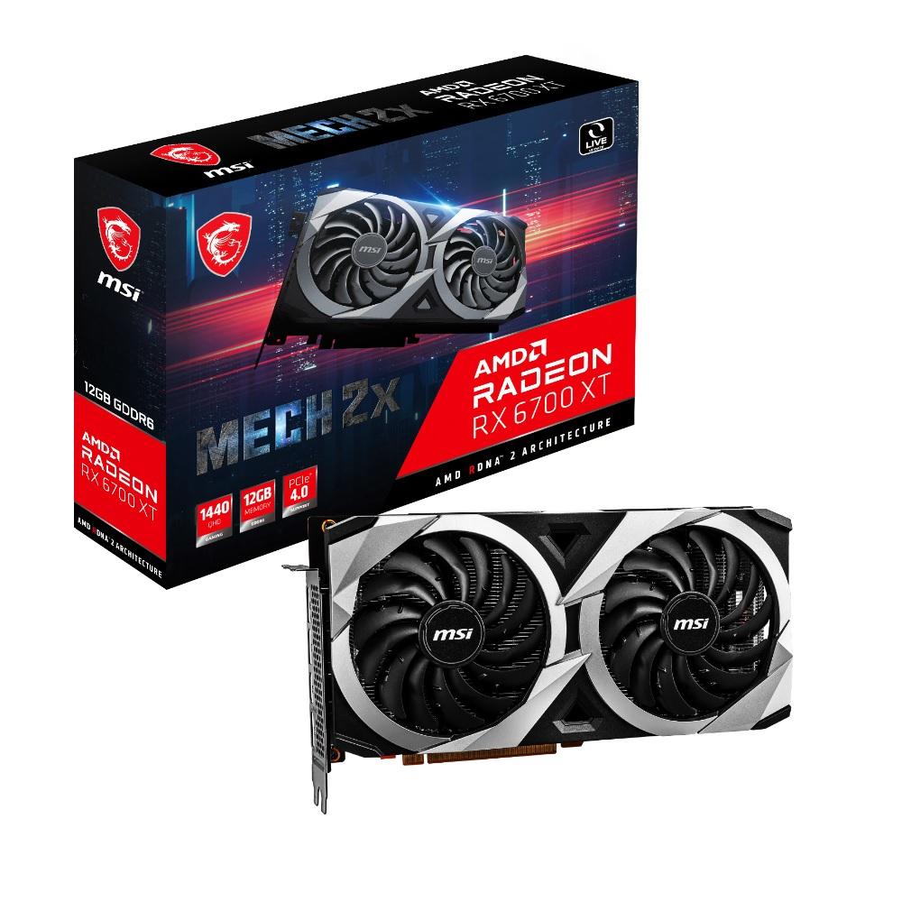 MSI Radeon RX 付与 6700 XT 新品■送料無料■ MECH AMD グラフィックスカード 2X 搭載 RADEON 12G