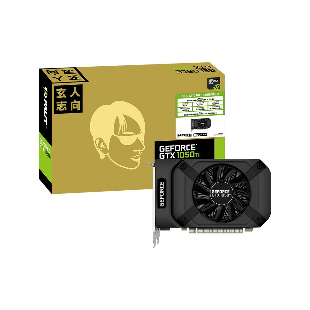 玄人志向 GF-GTX1050Ti-E4GB/SF/P2 GEFORCE GTX 1050Ti 搭載 PCI-Express グラフィックボード