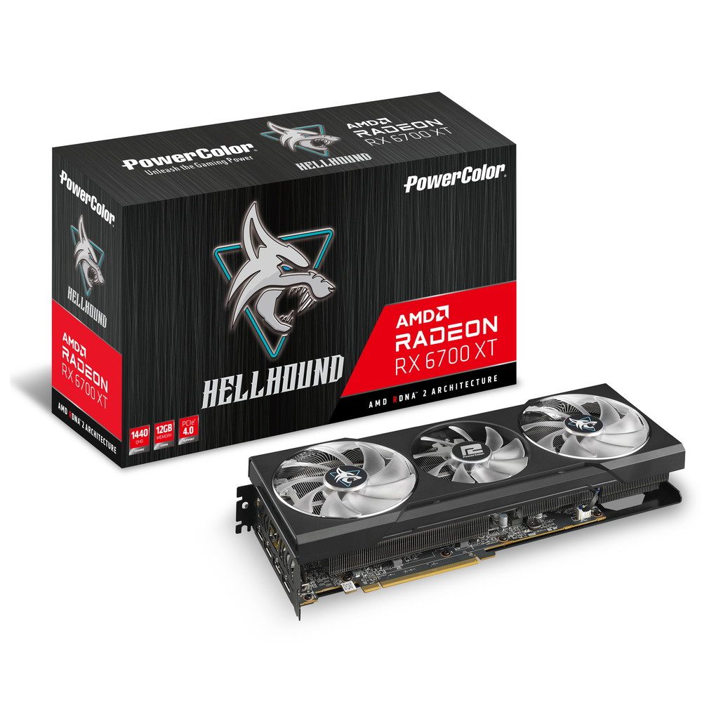 PowerColor AXRX 6700XT 12GBD6-3DHL RX6700XT 高級品 Radeon 未使用品 搭載 グラフィックボード
