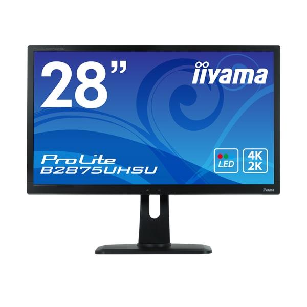 iiyama B2875UHSU-B1 28型ワイド液晶ディスプレイ 4K Ultra HD(3840x2160)解像度 4系統入力対応 ProLite B2875UHSU