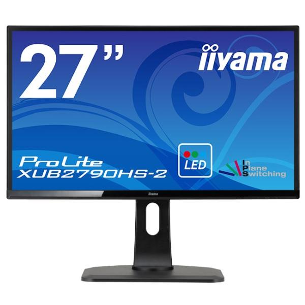iiyama XUB2790HS-B2 27型AH-IPSパネル+WLEDバックライト搭載ワイド液晶ディスプレイ ProLite XUB2790HS-2