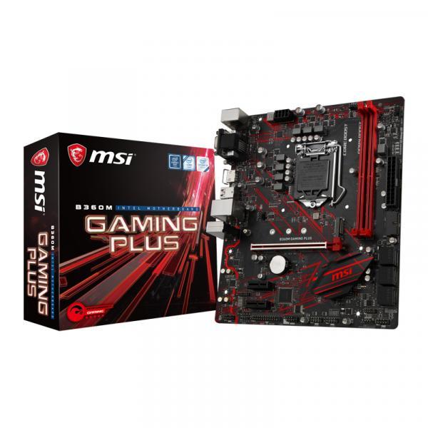 MSI B360M GAMING PLUS [MicroATX/LGA1151/B360] Intel第8世代CPU Coffee Lake 対応MicroATXマザーボード