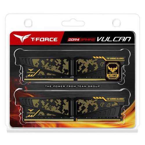 Team TLTYD416G2400HC14DC01 [DDR4-2400/8GB x2枚] デスクトップ用メモリ TUF Gaming Alliance認定ゲーム用オーバークロックメモリ