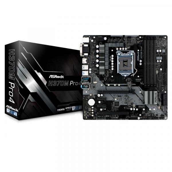 ASRock H370M Pro4 [MicroATX/LGA1151/H370] Intel第8世代CPU Coffee Lake 対応MicroATXマザーボード