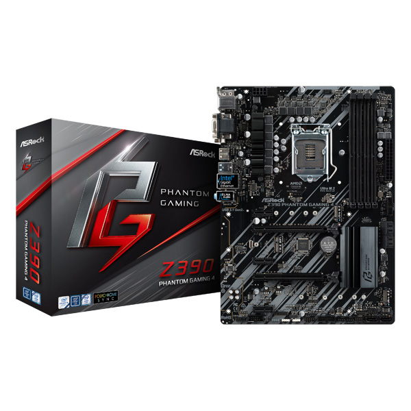 ASRock Z390 Phantom Gaming 4 [ATX/LGA1151/Z390] Intel 第9世代Coreプロセッサー対応 Z390チップセット搭載マザーボード