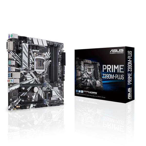 ASUS PRIME Z390M-PLUS [MicroATX/LGA1151/Z390] Intel 第9世代Coreプロセッサー対応 Z390チップセット搭載マザーボード