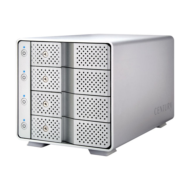 センチュリー 裸族のカプセルホテル USB3.1 (CRCH35U31CIS) 3.5インチSATA HDDを最大4台搭載可能 アルミボディの外付けケース
