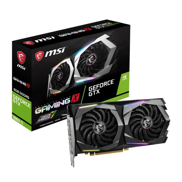 新製品 MSI GeForce GTX 1660 Ti GAMING X 6G [GTX1660Ti/GDDR6 6GB] GeForce GTX 1660Ti 搭載グラフィックカード