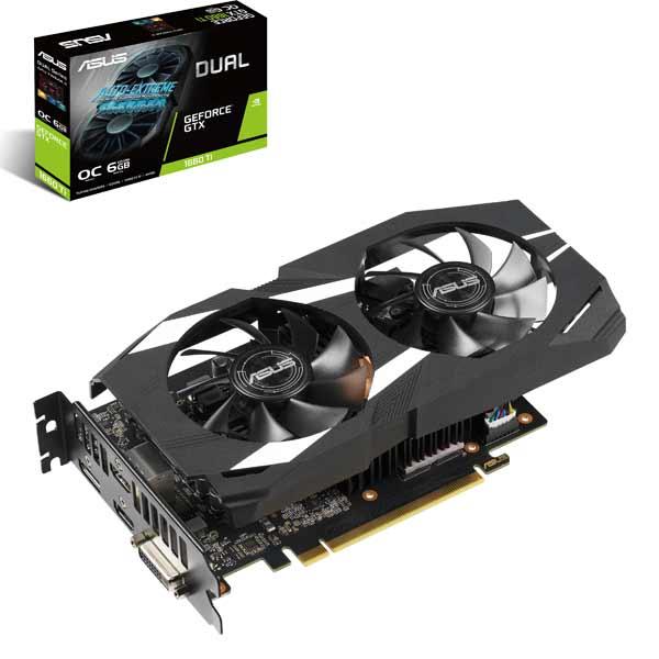 新製品 ASUS DUAL-GTX1660TI-O6G [GTX1660Ti/GDDR6 6GB] GeForce GTX 1660Ti 搭載グラフィックカード