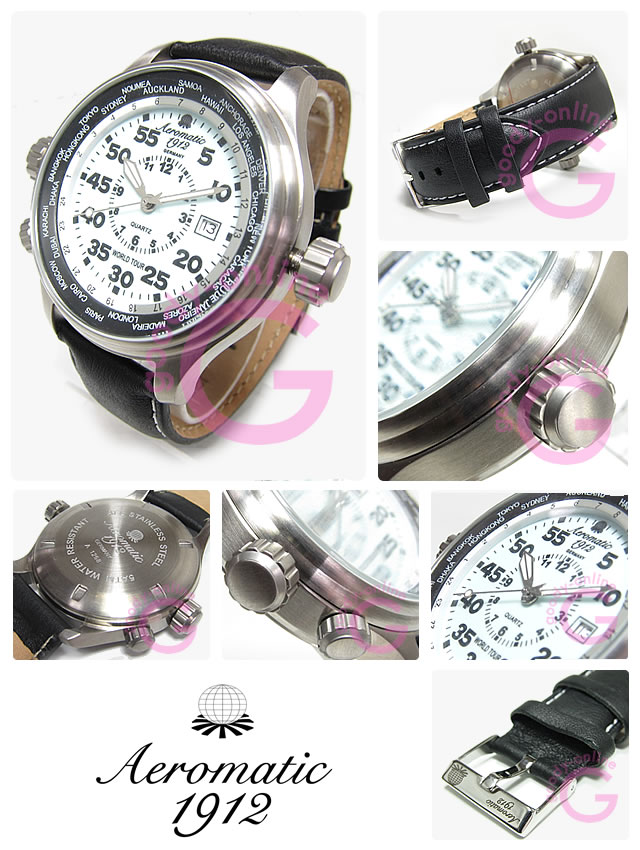 Goodyonline aeromatic 1912 1912 a1268 gmt world tour 3 crown characters panel for Thermal watches