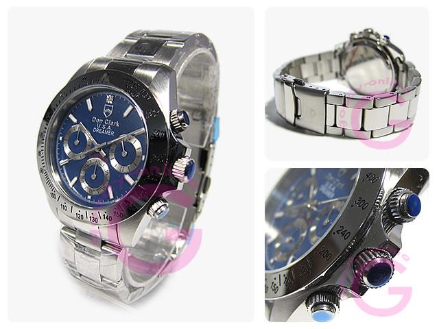 DON CLARK (Dan Clark) DM-2051-04/DM2051-04 chronograph blue men watch watch