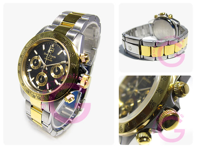 DON CLARK (Dan Clark) DM-2051-05GS/DM2051-05GS chronograph gold combination men watch watch