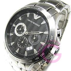 EMPORIO ARMANI (エンポリオ アルマーニ) AR0636 スポーツ クロノグラフ ブラック メンズウォッチ 腕時計 【あす楽対応】